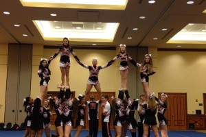 Cheer camp pyramid