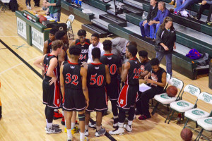 Basketball Boys Huddle
